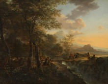 Итальянский пейзаж с художниками - Бот, Ян