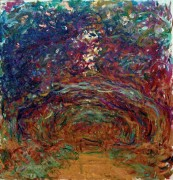 Тропинка под розовой аркой - Моне, Клод