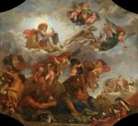 Марс на колеснице, запряженной волками - Одран, Клод Младший