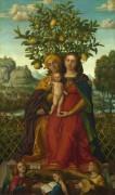 Мадонна с младенцем и Святой Анной - Либри, Джироламо да