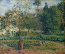 Огород в Эрмитаже, Понтуазе, 1879 - Писсарро, Камиль