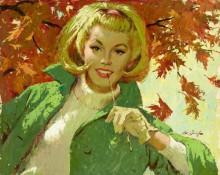 Портрет женщины в зеленом - Сарноф, Артур