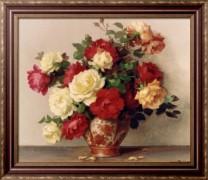 Розы в вазе - Декампс, Морис