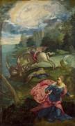 Святой Гергий и дракон - Тинторетто (Якопо Робусти)
