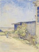 Сарай с подсолнухами (Shed with Sunflowers), 1887 - Гог, Винсент ван