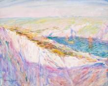 Меловые скалы на заливе Гульпар, 1907 -  Рассел, Джон Питер