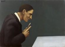 Человек, размышляющий о безумии - Магритт, Рене