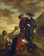Гамлет и Гораций на кладбище - Делакруа, Эжен