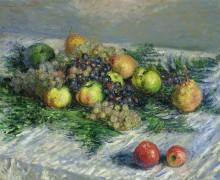Натюрморт с грушами и виноградом - Моне, Клод