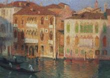 Венецианские палаццо с гондольерами на Большом канале - Мартен, Анри Жан Гийом