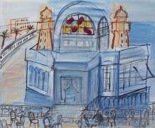 Казино в Ницце со стульями на террасе - Дюфи, Рауль