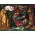 Святой Георгий, убивающий дракона - Россетти, Данте Габриэль