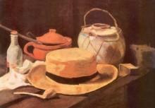 Натюрморт с желтой соломенной шляпой - Гог, Винсент ван