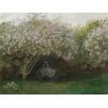 Сирень,пасмурная погода, 1872 - Моне, Клод