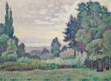 Пейзаж с двумя кипарисами, 1905 - Метценже, Жан
