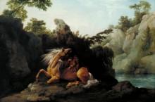 Лев ест лошадь - Стаббс, Джордж