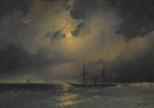 Плавание лунной ночью - Айвазовский, Иван Константинович