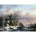 Зимний пейзаж - Круземан, Фредерик Маринус