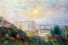 Пейзаж с видом на Монмартр - Ренуар, Пьер Огюст