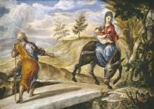 Возвращение из Египта, 1567 - Греко, Эль