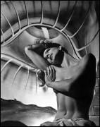 Тони Холлингсворт на фоне картины Дали - Халсман, Филипп