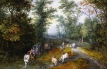 Лесная дорога с путниками - Брейгель, Ян (Старший)