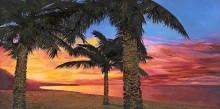 Пальмы на фоне заката - Борелли, Гвидо (20 век)