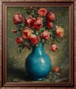 Натюрморт с розами - Мюллер-Ури, Адольфо Феличе