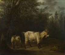 Коза с козленком - Велде, Адриан ван де