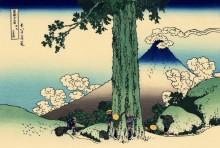 Мисима идут в провинции Кай - Кацусика, Хокусай