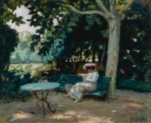 Чтение в саду, 1903 - Андре, Альберт