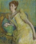 Дама в желтом - Дега, Эдгар