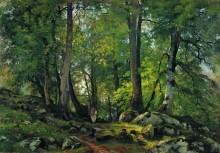 Буковый лес в Швейцарии, 1863-1864 - Шишкин, Иван Иванович