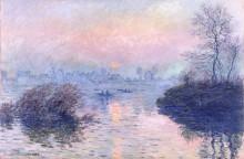 Закат над Сеной в Лавакуре - Моне, Клод
