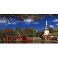 Осенний пейзаж с церковью - Девисон, Доминик