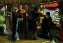 Данте, рисующий ангела на годовщину смерти Беатриче - Россетти, Данте Габриэль