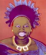 Правящие королевы, Нтомби лаТвала королева Свазиленда (Les Reines gouvernantes, Ntombi Twala du Swaziland), 1985 - Уорхол, Энди