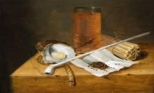 Натюрморт с трубкой, пепельницей и сигарой - Смитс, Теодор