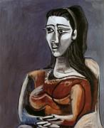 Сидящая женщина в кресле (Жаклин), 1962 - Пикассо, Пабло