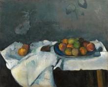 Тарелка с персиками - Сезанн, Поль