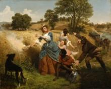 Миссис Шейлер сжигает своё поле перед нападением англичан - Лойце, Эмануэль Готлиб