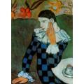 Арлекин,  1901 - Пикассо, Пабло