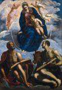 Мадонна с Младенцем и святые Марк и Лука - Тинторетто (Якопо Робусти)