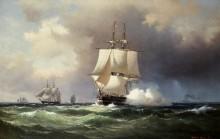 Парусник в открытом море - Мелби, Вильгельм