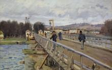 Пешеходный мост в Аржантее - Сислей, Альфред