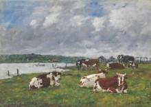 Коровы на пастбище в долине Тук - Буден, Эжен