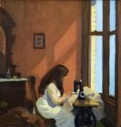 Женщина за швейной машинкой - Хоппер, Эдвард