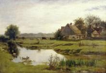 Сельский дом у ручья в Витценхаузене - Добиньи, Шарль-Франсуа
