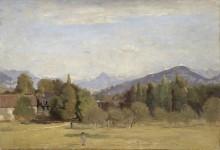 Пейзаж близ Женевы - Коро, Жан-Батист Камиль