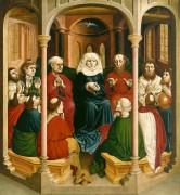 Вурцахский алтарь - Снисхождение Святого Духа на апостолов (Пятидесятница) - Мульчер, Ханс